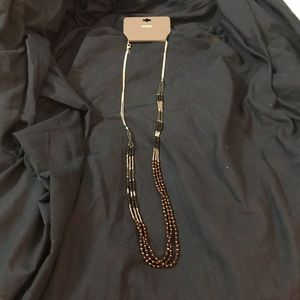 Express multi strand beaded necklace NWT